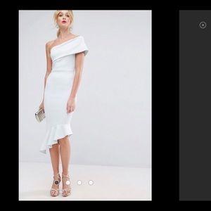 ASOS light blue, one-shoulder dress